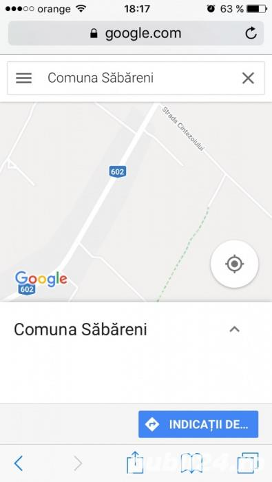 Teren intravilan 4500 mp Sabareni langa Bucuresti