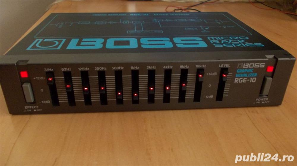 Egalizator BOSS RGE-10 Graphic EQ,egalizor micro rack chitara instrument JAPAN