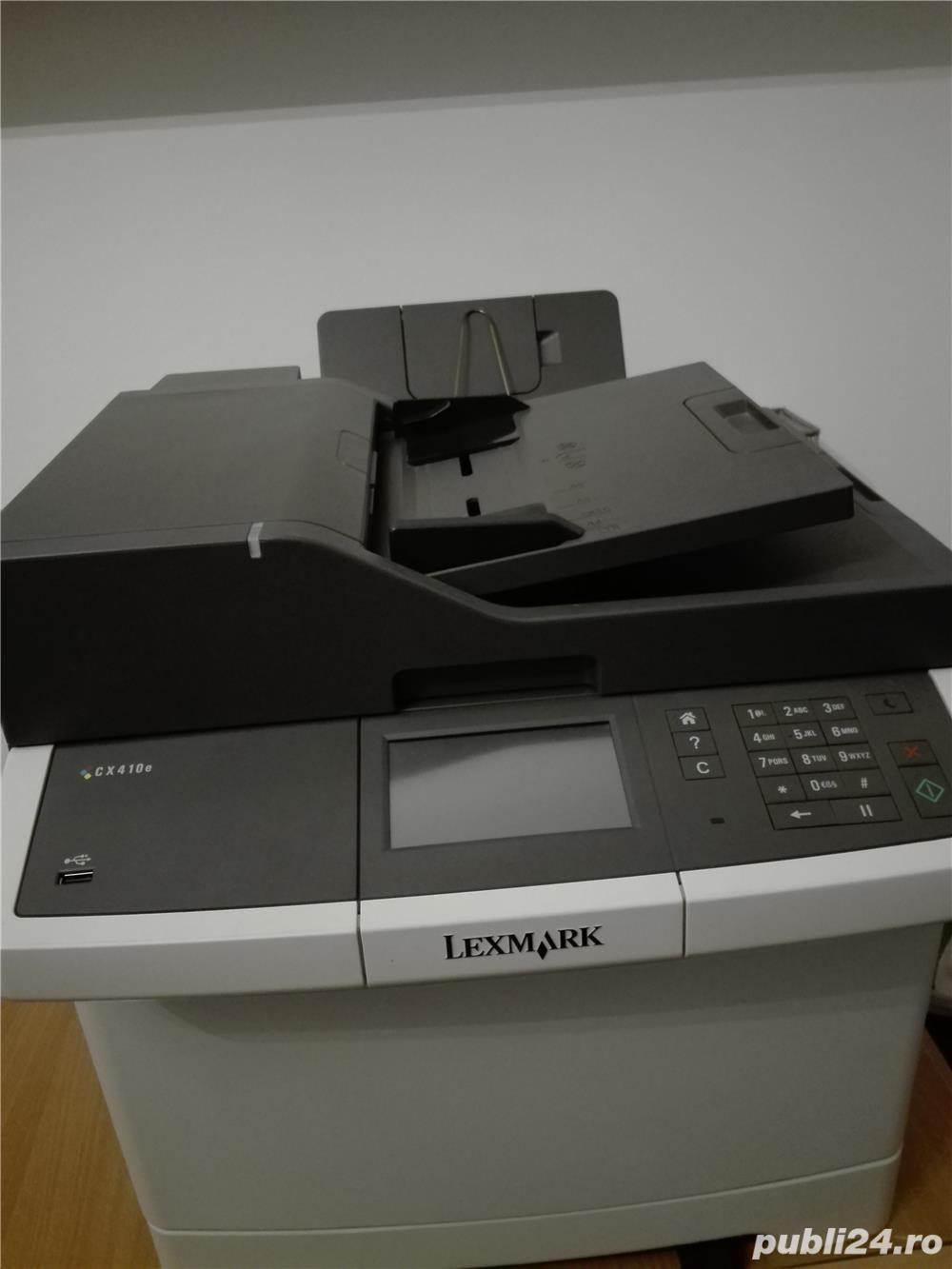 Multifunctionala color Lexmark CX 410 aproape noua