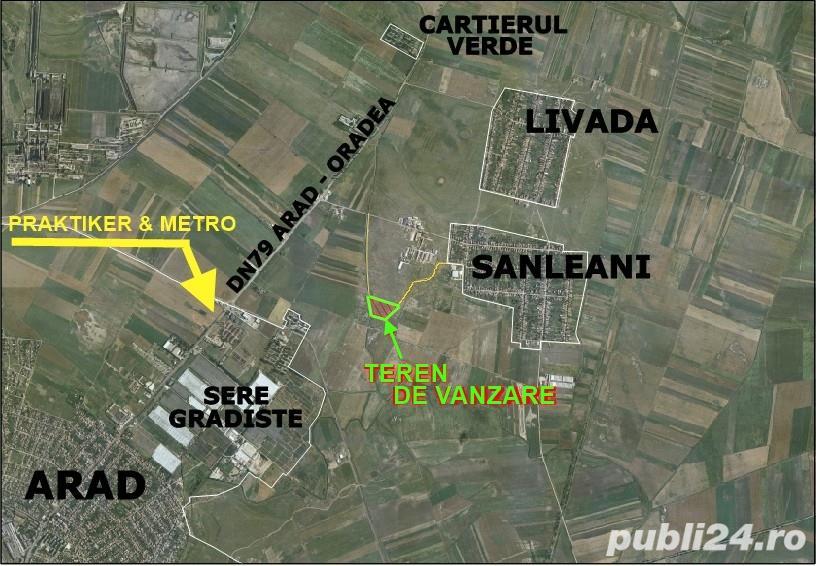 Vanzare  terenuri constructii  27.2 ha Arad, Sanleani  - 272000 EURO