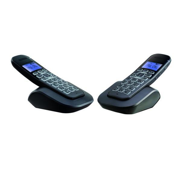 Set 2 x telefoane fara fir, afisaj caractere mari, lumina, butoane mari, NOU Sigilat