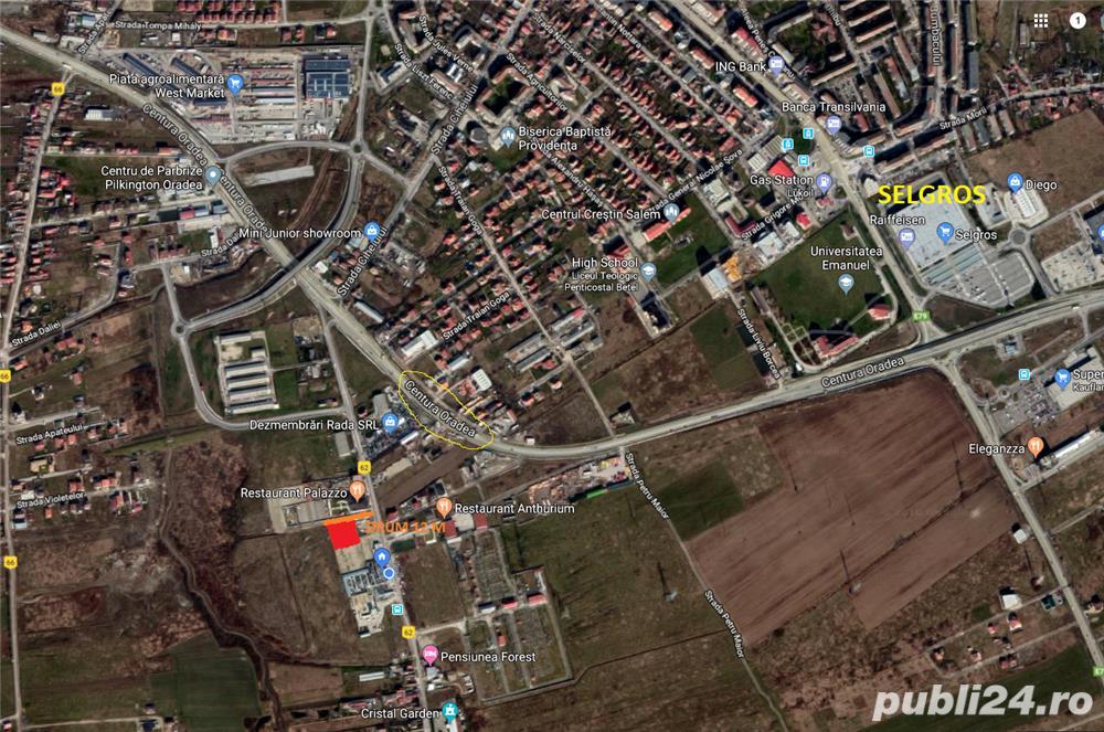 Inchiriez teren intre 500 mp si 2700 mp , langa centura Oradea ( nufarul )