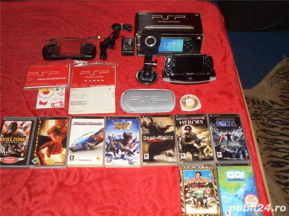 Sony PSP NOU LA CUTIE + filme si jocurii diferite accesori (schimb)