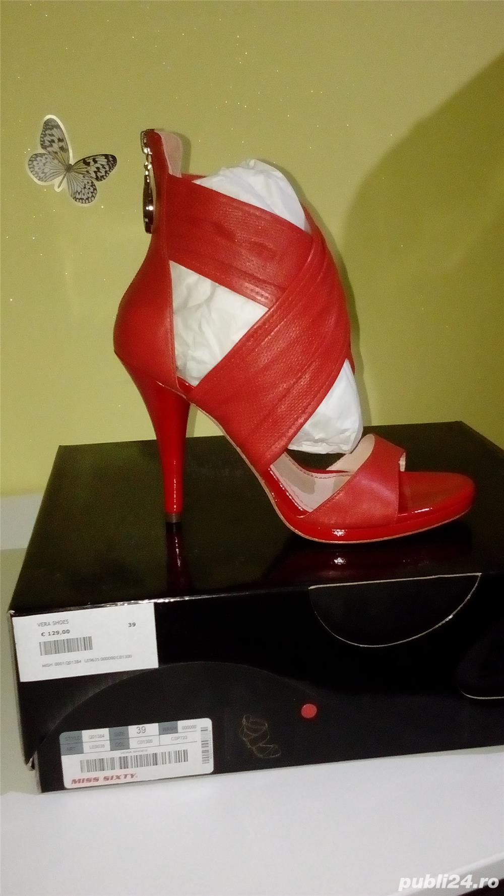 Sandale Miss Sixty noi din piele naturala 39