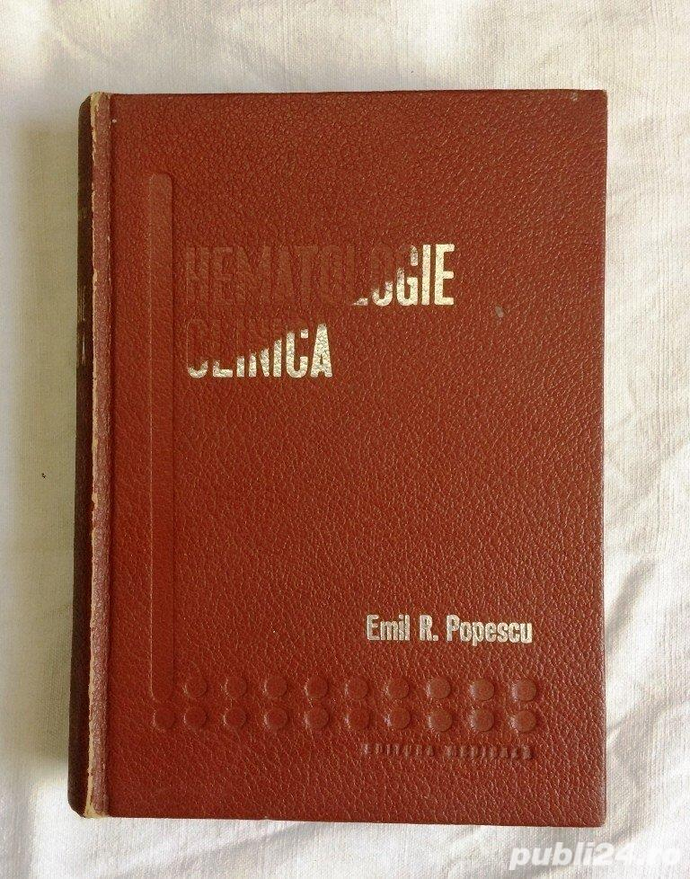 hematologie clinica de emil r. popescu cartonata editura medicala bucuresti 1966 738 pagini