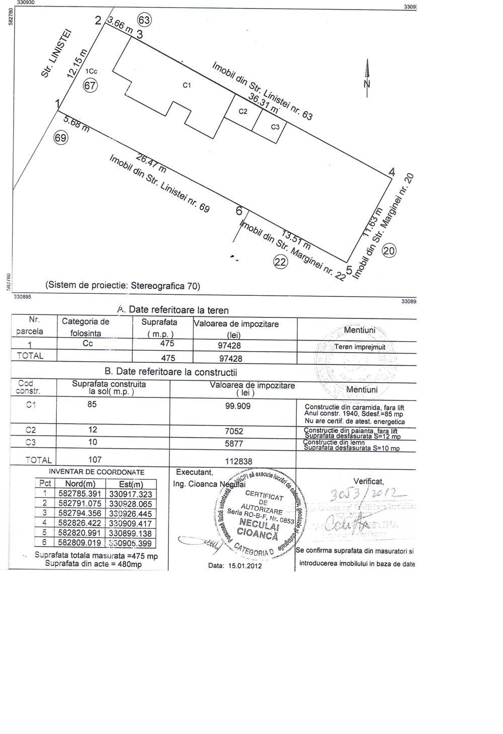 teren piata uniri 1700 metri deschidere 18 metri regim p+2+m pret de 260 euro urgrnt tel