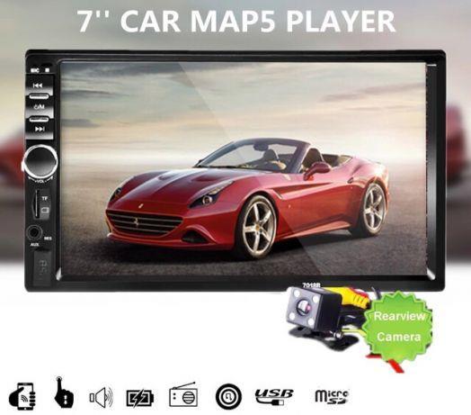"Player auto display 7""HD touchscreen mirrorlink ,bluetooth,radio,usb ,micro sd,aux+camera marsarier"