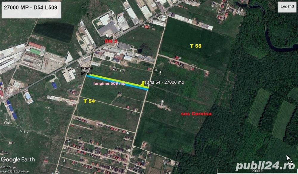 Cernica Lot Investitie sau dezvoltare - 27000 MP  Intravilan