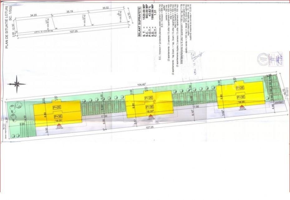 Vanzare teren pentru constructie a 18 apartamente pe malul lacului