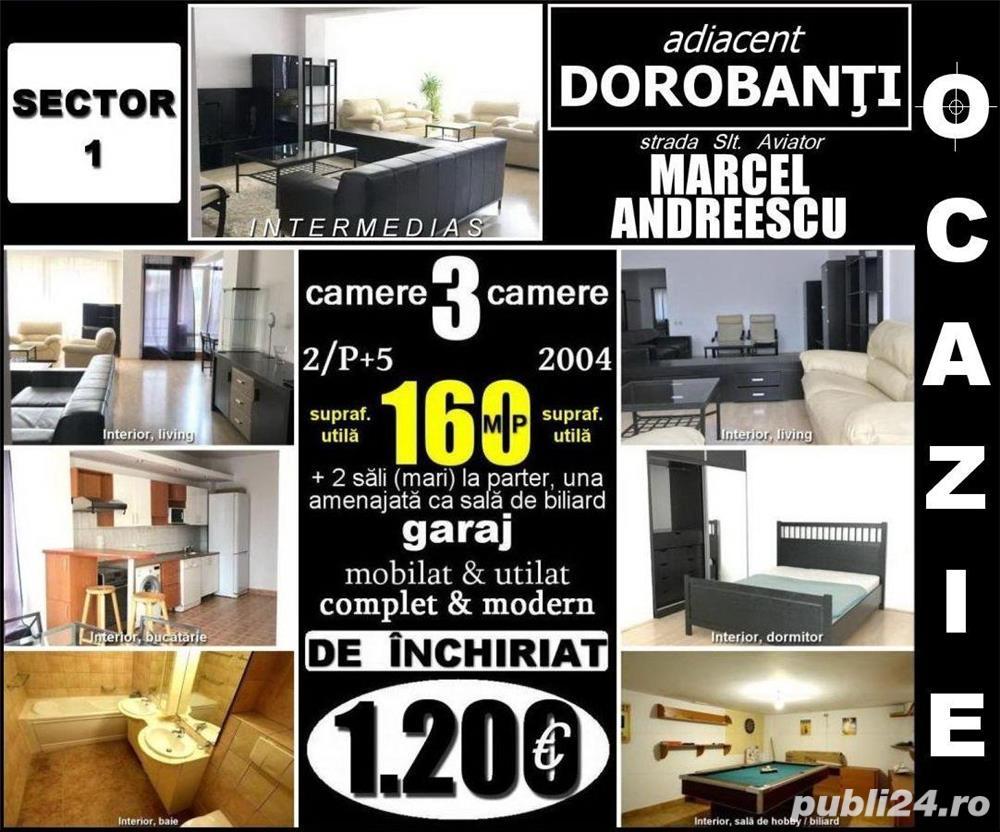 Adiacent Dorobanţi-Marcel Andreescu, 3 cam. 2/5, 160mp, loc parcare, mobilat