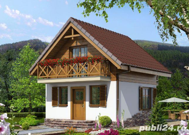 Kit casă lemn 72 mp