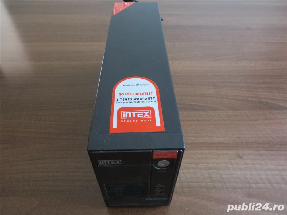 UPS Intex Mission 650VA cu baterie (acumulator) noua