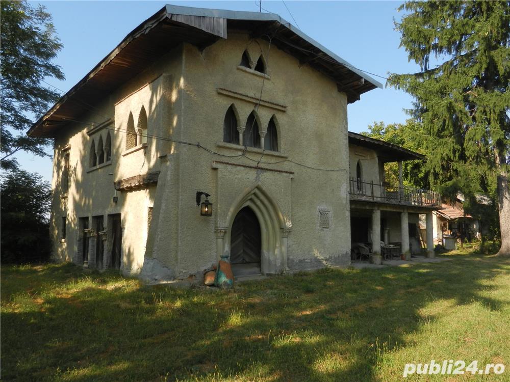 vand casa deosebita, arhitectura stil gotic, fost conac