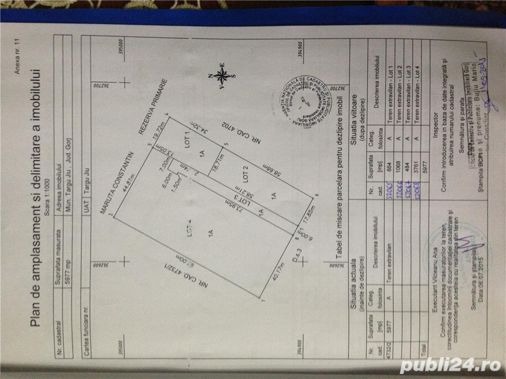 Vând 660 mp intravilan in Tg-Jiu