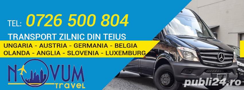 Transport zilnic Teius Ungaria Austria Germania Belgia Olanda Anglia Slovenia Luxemburg la adresa