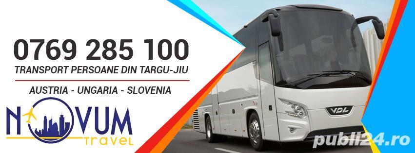 Transport persoane din Targu-Jiu oriunde in Austria, Ungaria, Slovenia la domiciliu