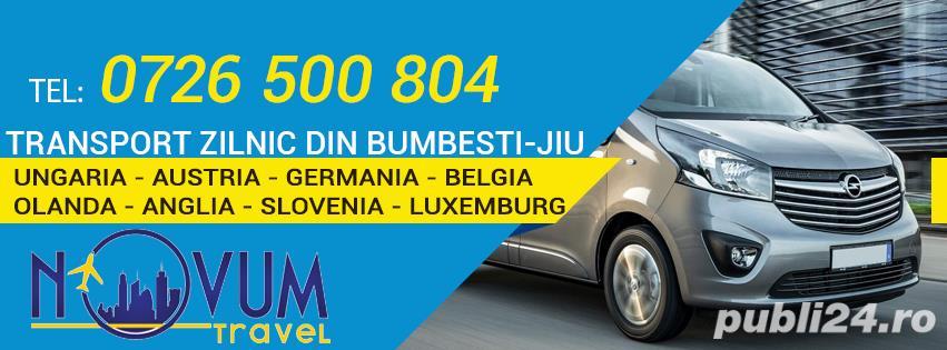 Transport zilnic Bumbesti-Jiu Ungaria Austria Germania Belgia Olanda Anglia Slovenia Luxemburg