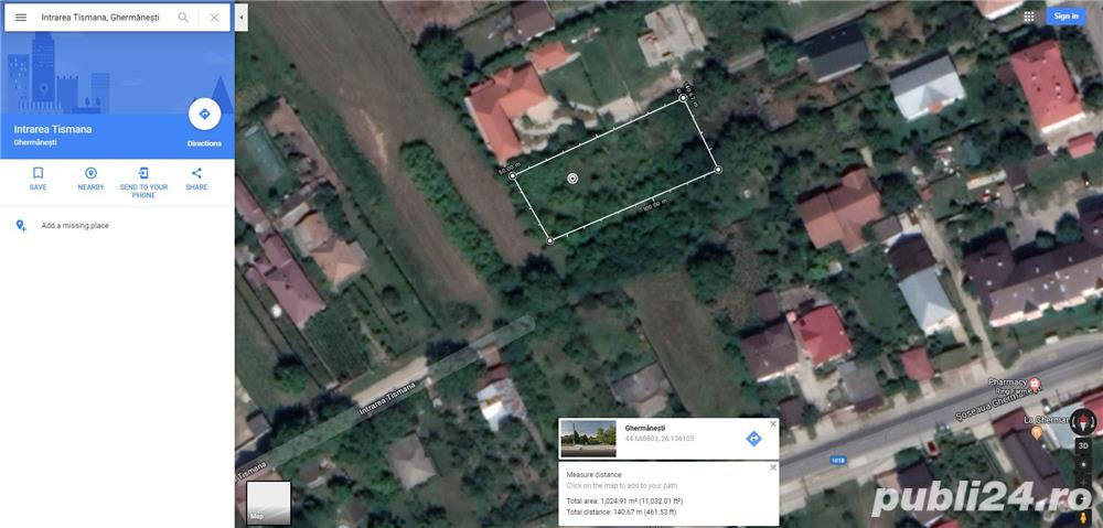 Vanzare teren intravilan in Ghermanesti, comuna Snagov