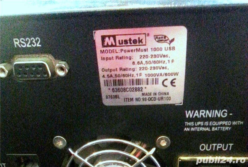 UPS Mustek PowerMust 1000 USB