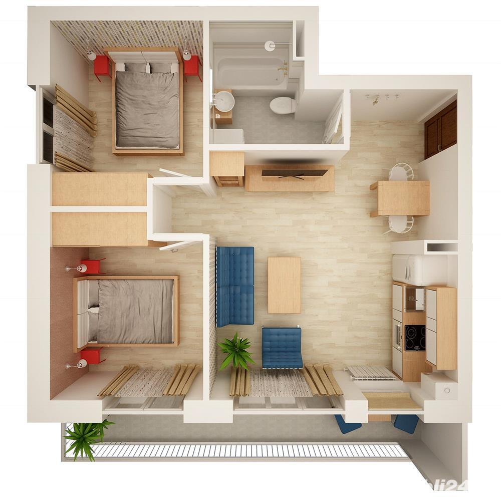 Apartament 3 camere, construcție nou.