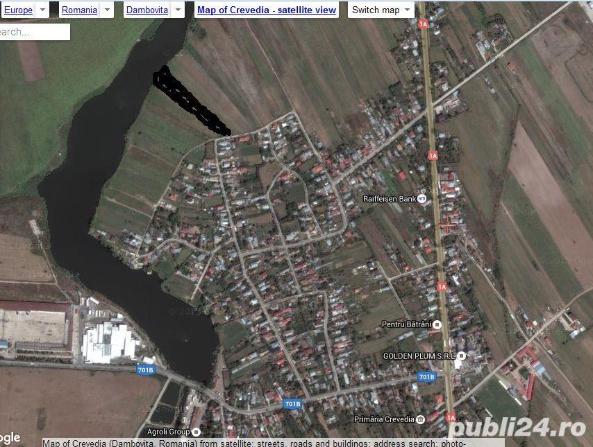 teren lac 3250mp, EURO/mp, intravilan, utilitati (gaze naturale si curent electric), CREVEDIA Lac