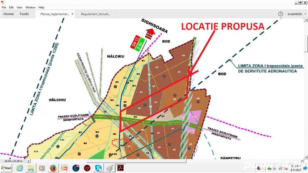 Teren intravilan - industrial - 40 ha - Brasov-dn13/e60 Tg Mures/Cluj