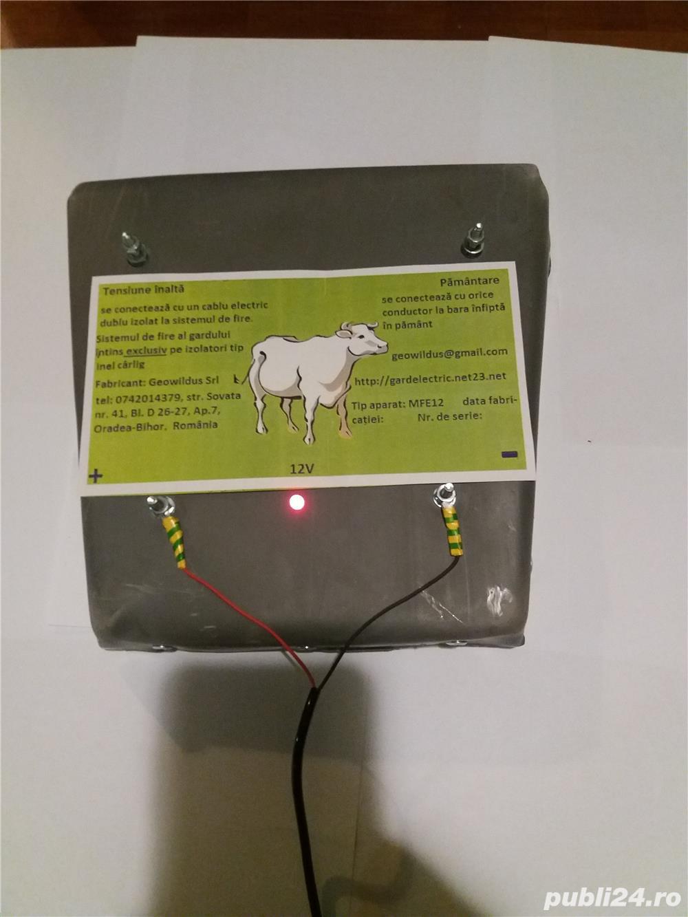 Gard electric 6 joule impotriva ursilor ,2 ani garantie ,factura,400 ron