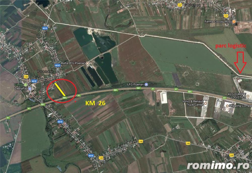 Vand (inchiriez) teren A1-Km27-Poenari