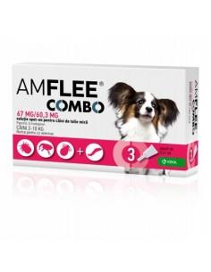 Amflee Combo Dog S 67 mg (2-10 kg), 3pipete