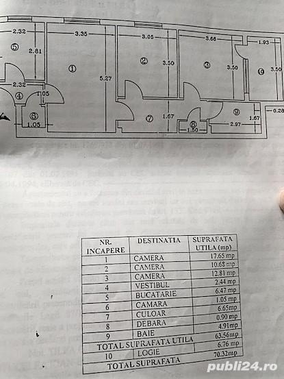 Titan Parc Ior ,3 camere ,bloc de 4 etaje,parter,105.000 euro
