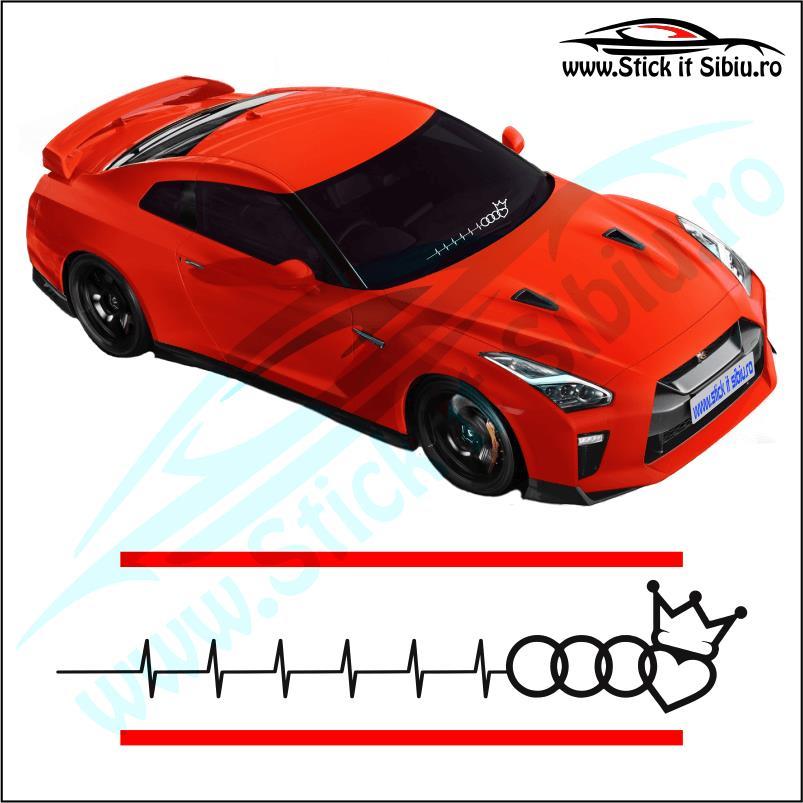 Sticker Parbriz-AUDI KING PULS - Stickere Auto