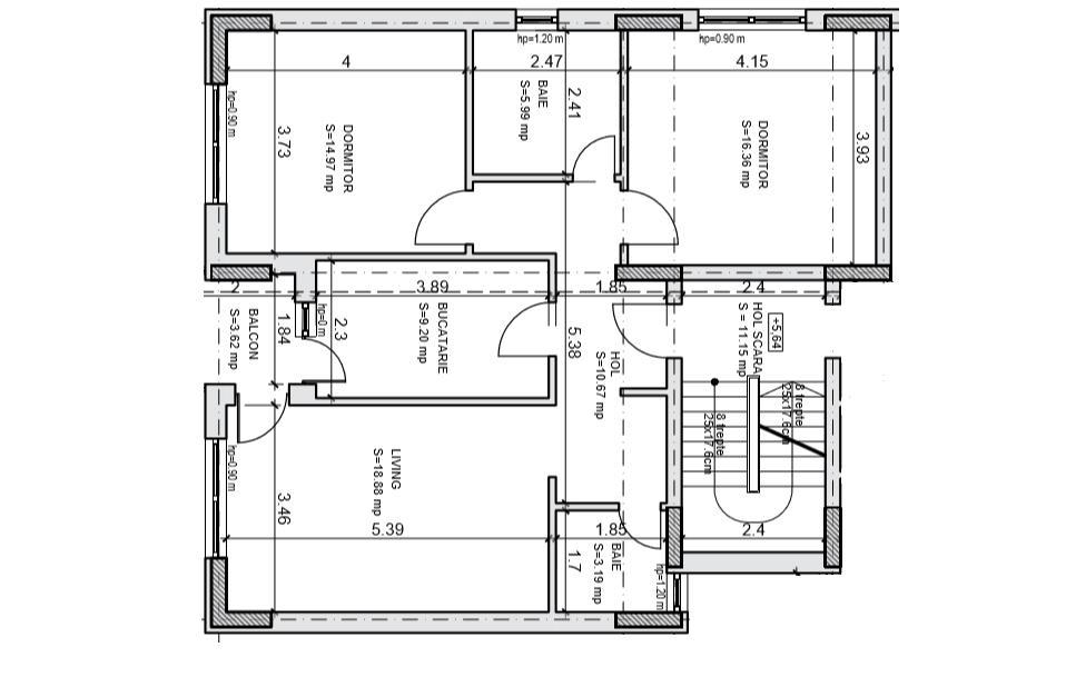 [4 minute metrou] Apartament 3 camere spatios - Metrou Dimitrie Leonida
