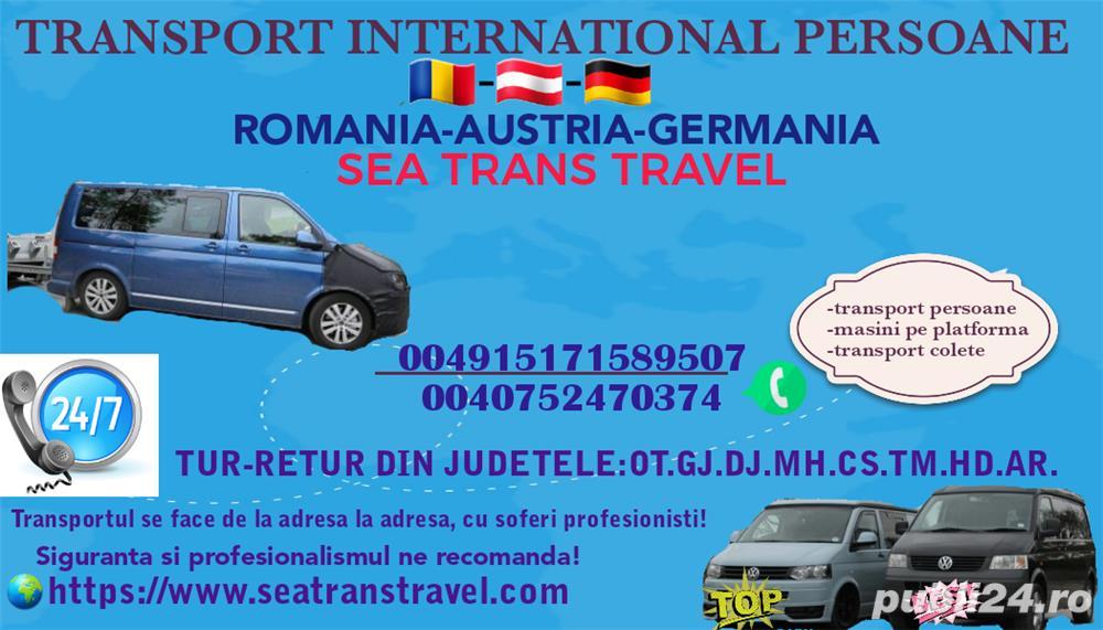 Transport international persoane Romania-Austria-Germania!