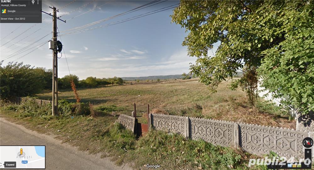 Teren intravilan 4940 mp - sat Aurești, comuna Orlești, judetul Vâlcea