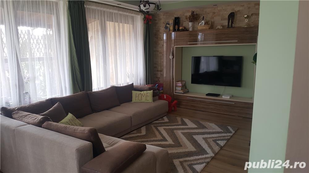 Dau in chirie vila lux P+E+M , zona Sp Judetean , inc. centrala, izolata , mobilata, dotata,garaj.