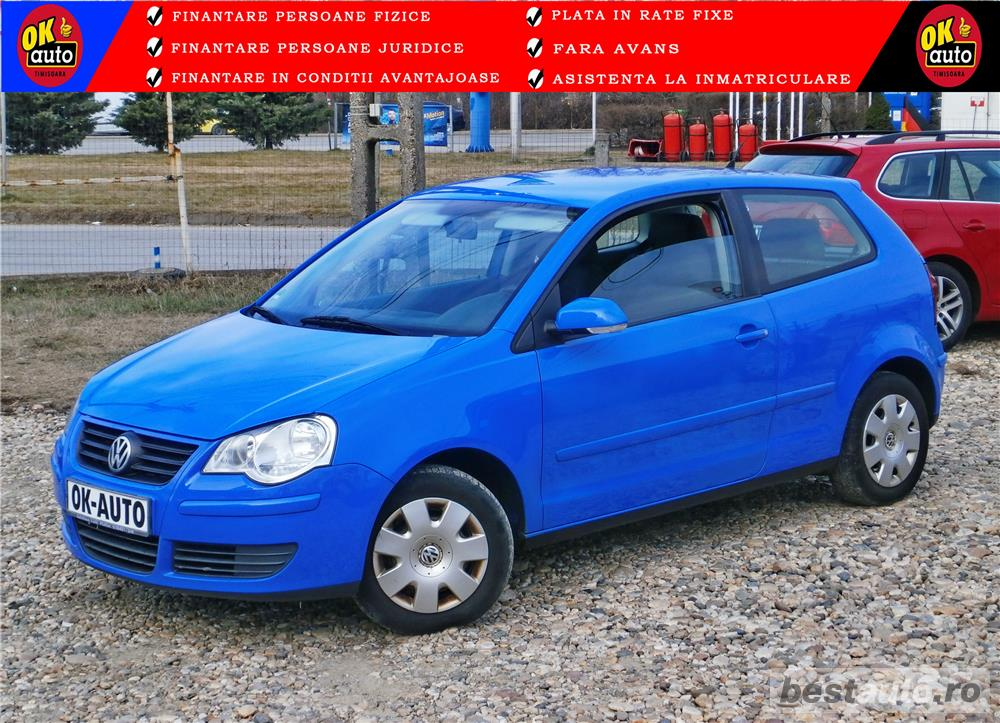 VW POLO - 1.2 benzina - EURO 4 - AN 2006 - vanzare in RATE FIXE cu avans 0%.