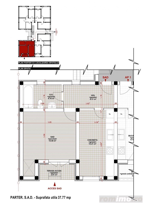 Giroc-Chisoda, apartament cu o camera, spatiu comercial