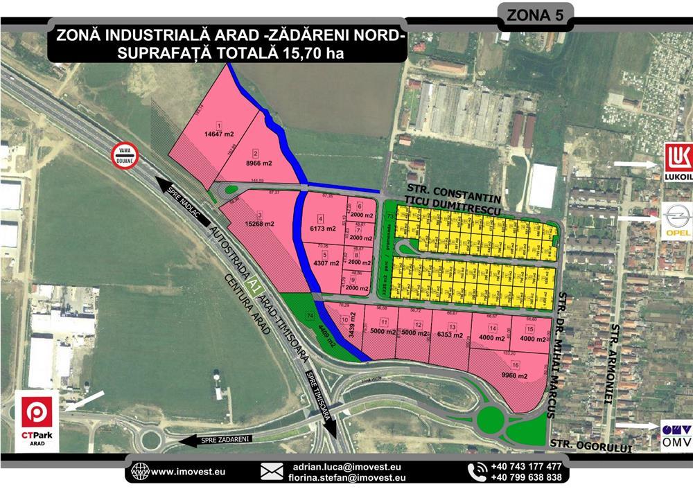 Vand parcele pentru case in Aradul NOU