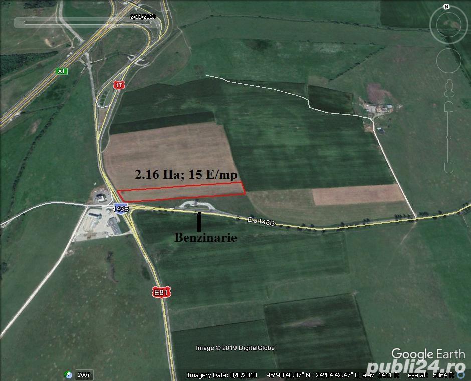 Vand teren arabil 8200 mp. cu deschidere de 23 ml. la str. Salzburg