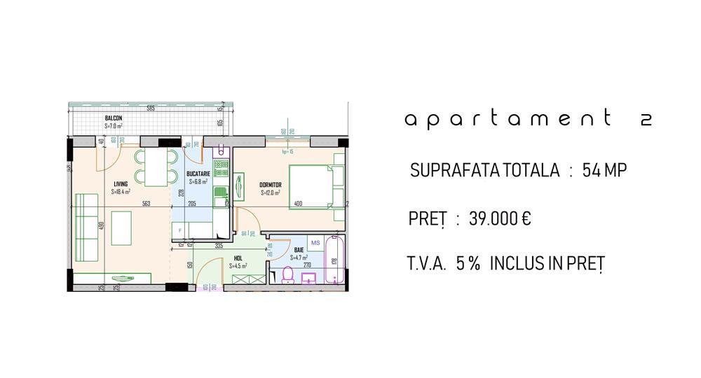 Apartament 2 camere Bragadiru Cristalului capat RATB 302