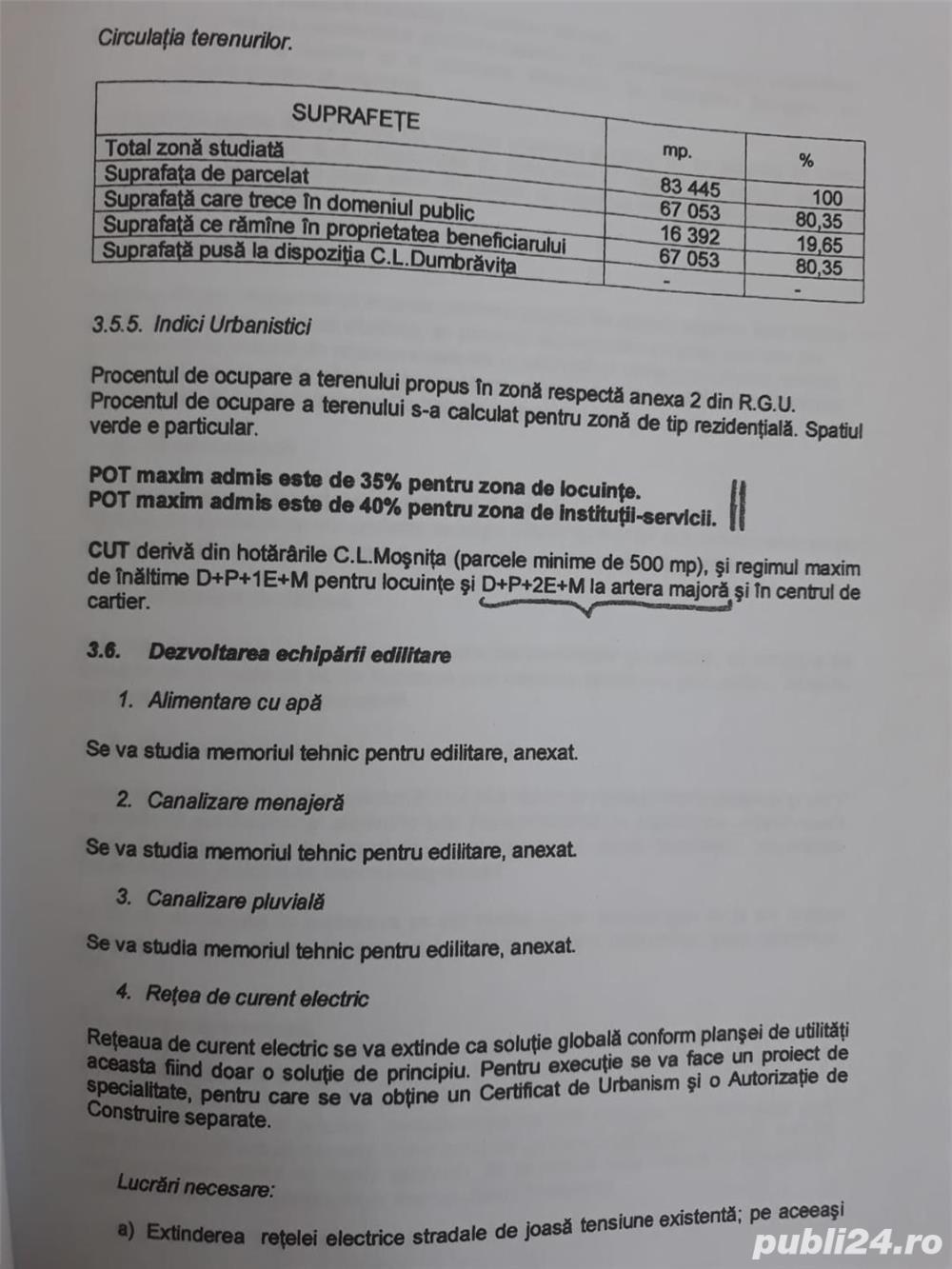 Mosnita-Drumul Boilor,teren 8 ha, cu PUZ, pret 17 euro/mp