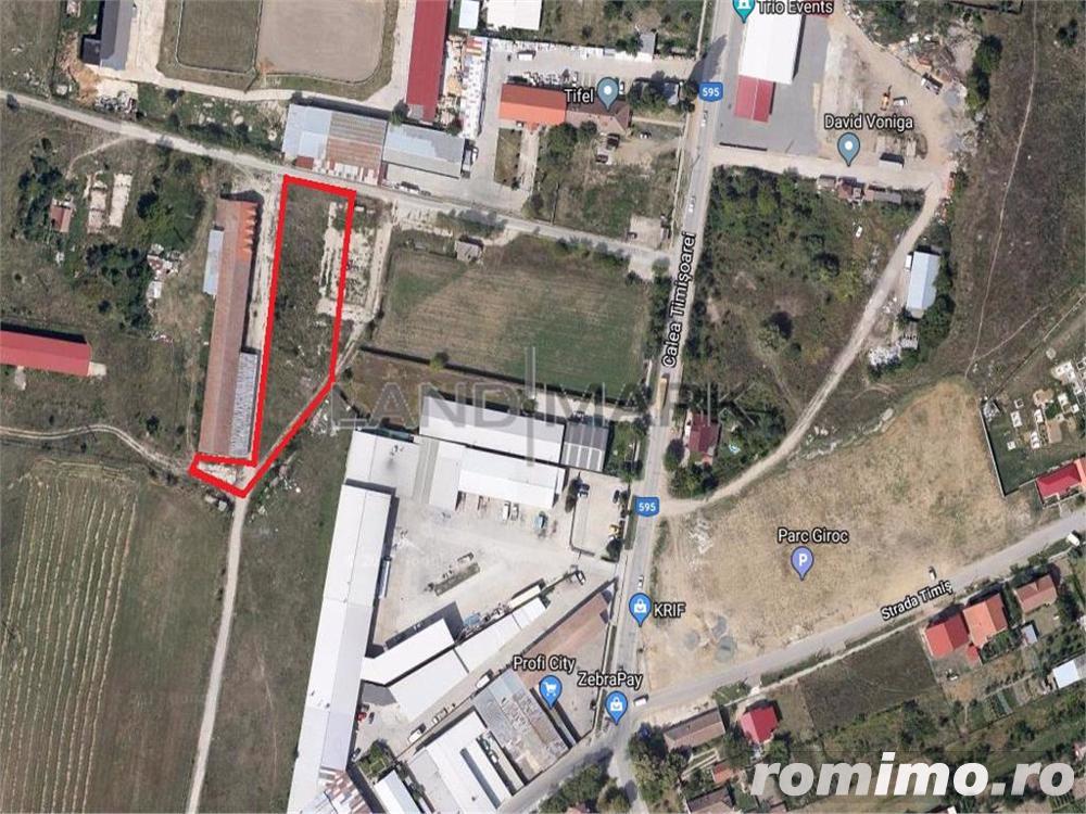 Teren industrial de vanzare in zona Giroc sat