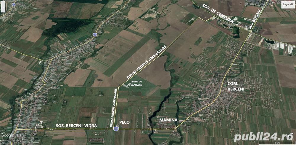 Loturi teren intravilan Berceni-Vidra