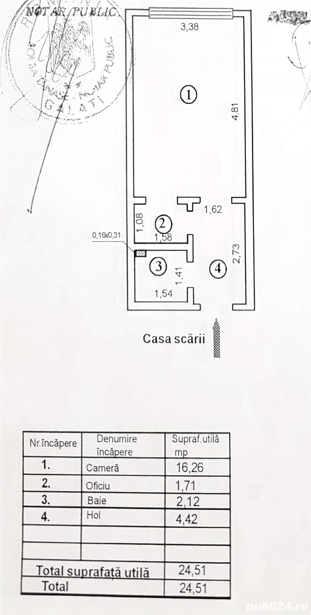 Garsoniera TIGLINA  23000euro