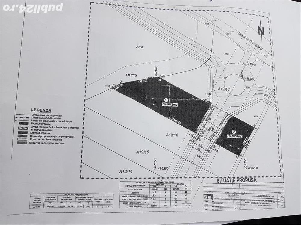 vand teren pentru blocuri Dumbravita