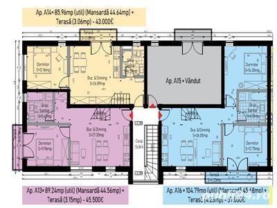 Apartamente 3 camere de vanzare Calea Cisnadiei