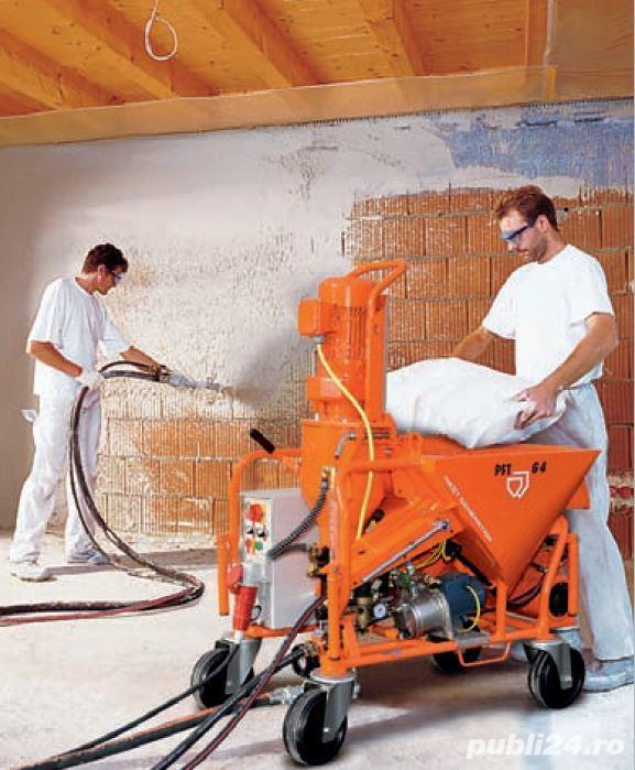 Angajăm muncitori pentru tencuit, glet și lavabilă mecanizate