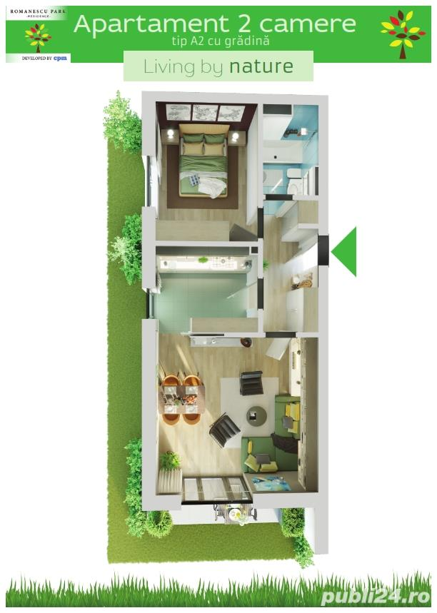 Apartament 2 camere cu gradina - Romanescu Park Residence