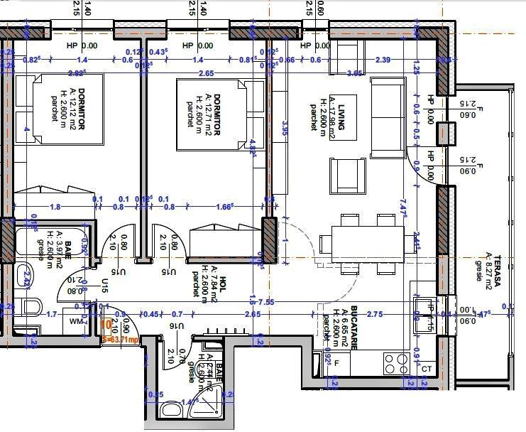 Apartament 3 camere, 2 bai - City Residence Sibiu - z. Libra