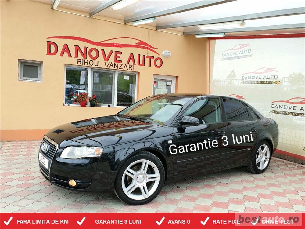 Audi A4,GARANTIE 3 LUNI,AVANS 0,RATE FIXE,motor 2000 TDI,140 CP,Model S-line